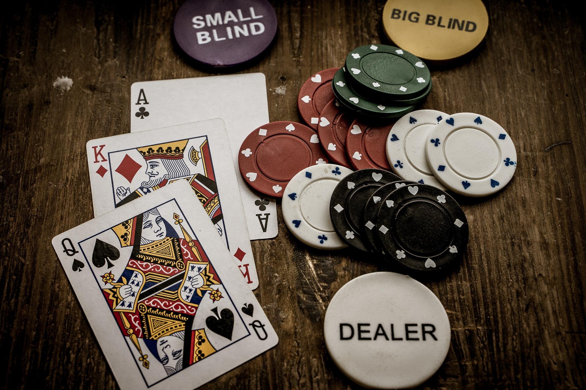 Gambling Cards table